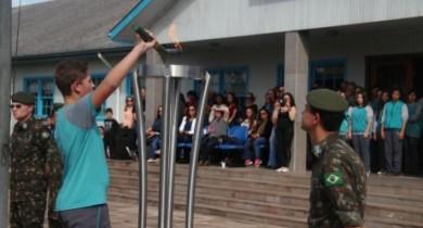 Cerimônia para recebimento do fogo simbólico da pátria será na sexta em Bento