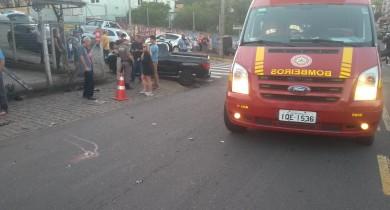 Acidente deixa motorista ferido no São Francisco em Bento