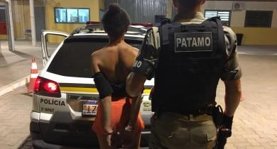 Mulher é detida pela Patamo descumprindo prisão domiciliar em Bento