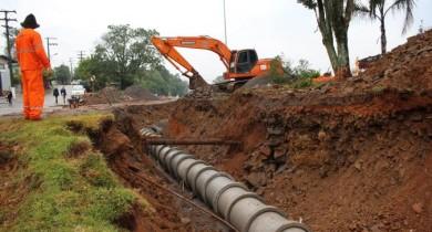 Obras do Túnel de acesso norte estão em andamento em Bento