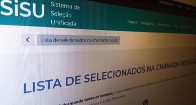Ministério da Educação divulga o resultado do Sistema de Seleção Unificada, o Sisu