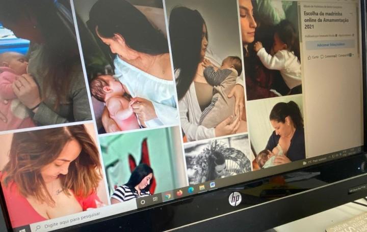 Votação para madrinha online da amamentação está aberta em Bento