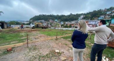 Obras da Escola Infantil no bairro Zatt estão em andamento em Bento