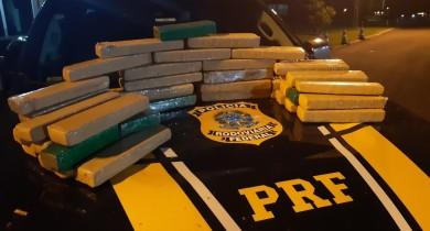 Em três ações, Polícia Rodoviária Federal recolhe cerca de 139 quilos de drogas no RS