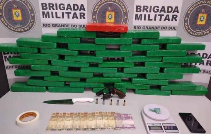 Quadrilha é presa e polícia apreende 24 quilos de drogas em Caxias do Sul
