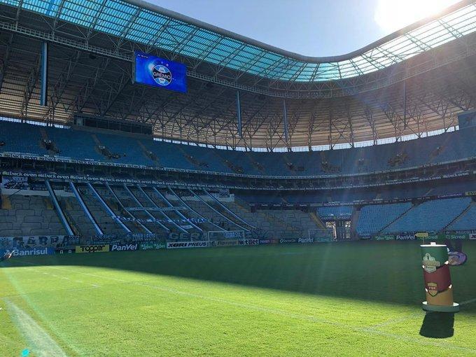 Grêmio suspende treinos do seu grupo profissional e as atividades das categorias de base
